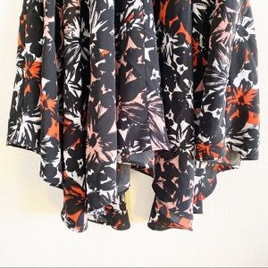 Metaphor Dresses - Metaphor Floral Flowy Asymmetrical Hem Dress